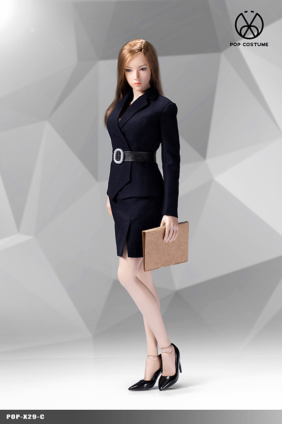 NEW PRODUCT: POPTOYS: 1/6 Office Girl - Women's Suit Set X29 Skirt & X30 Trousers 21422110