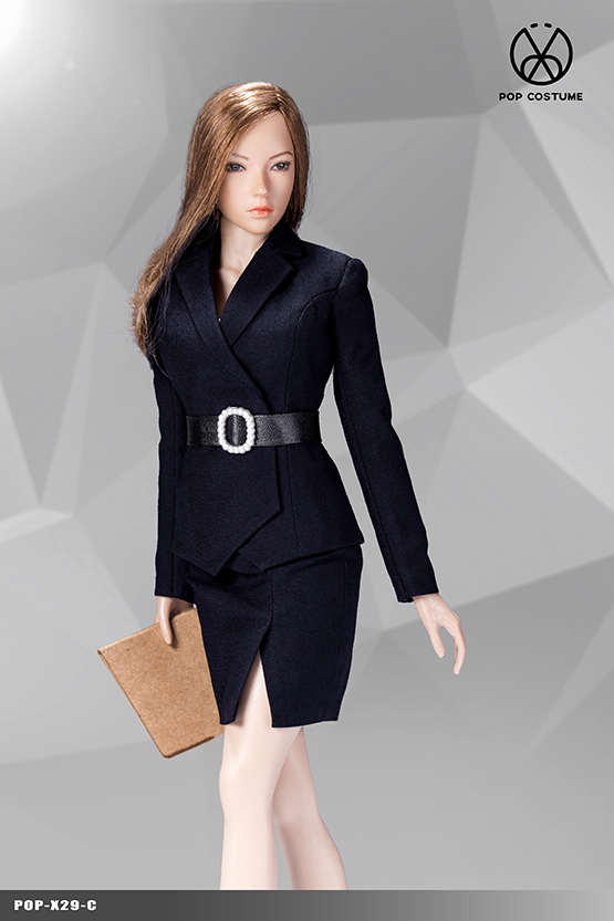 NEW PRODUCT: POPTOYS: 1/6 Office Girl - Women's Suit Set X29 Skirt & X30 Trousers 21422210