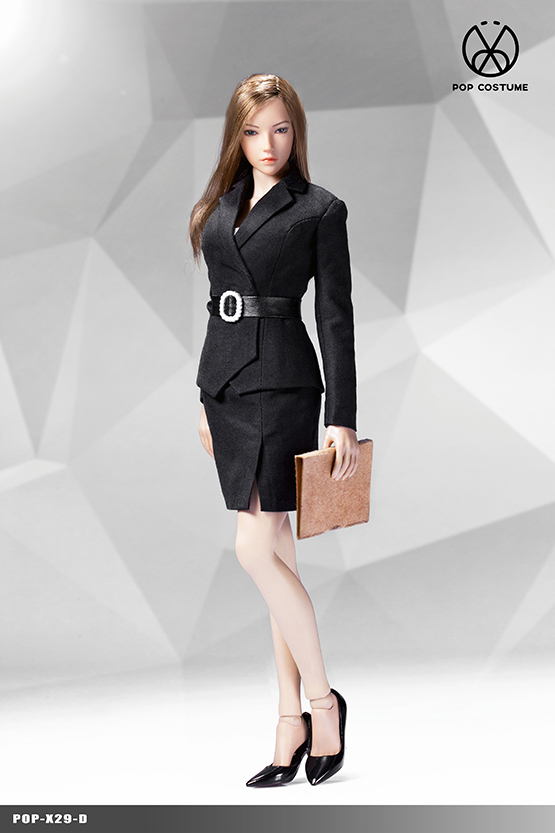 NEW PRODUCT: POPTOYS: 1/6 Office Girl - Women's Suit Set X29 Skirt & X30 Trousers 21422211