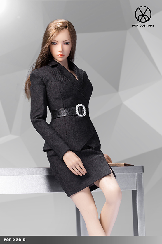 NEW PRODUCT: POPTOYS: 1/6 Office Girl - Women's Suit Set X29 Skirt & X30 Trousers 21422212