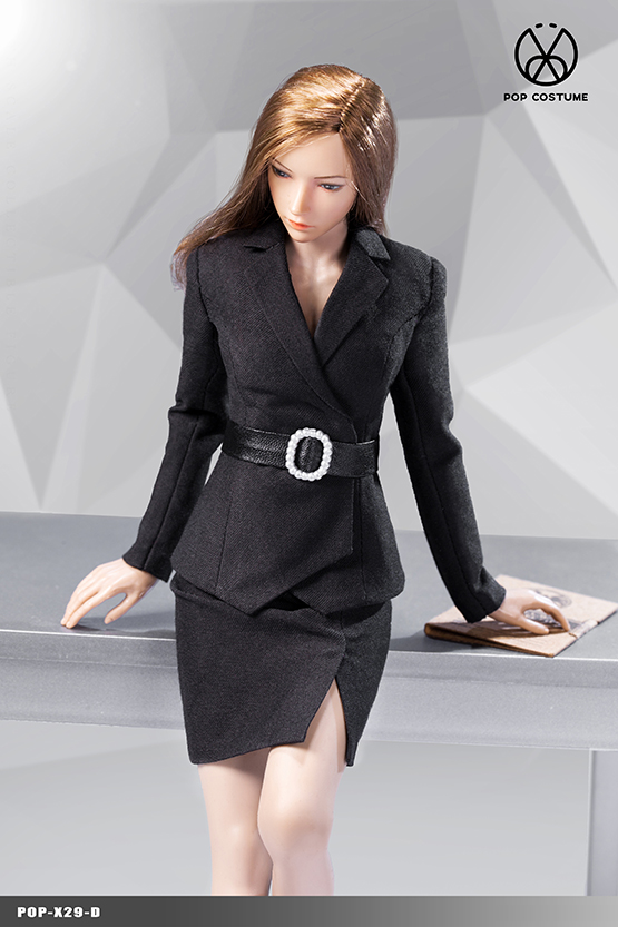 NEW PRODUCT: POPTOYS: 1/6 Office Girl - Women's Suit Set X29 Skirt & X30 Trousers 21422311