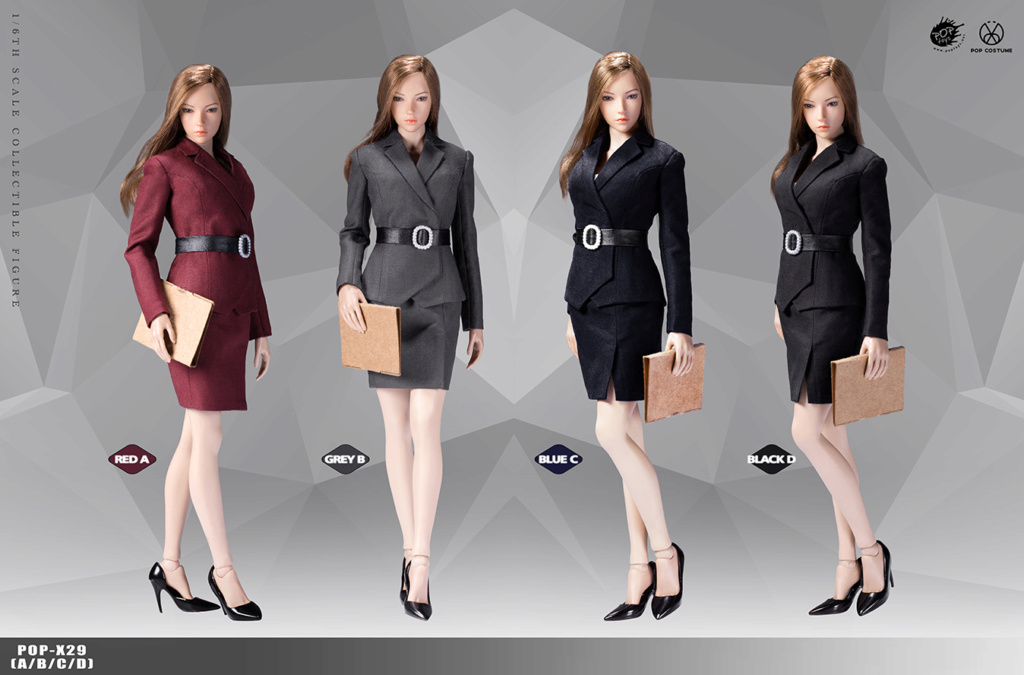 NEW PRODUCT: POPTOYS: 1/6 Office Girl - Women's Suit Set X29 Skirt & X30 Trousers 21422410