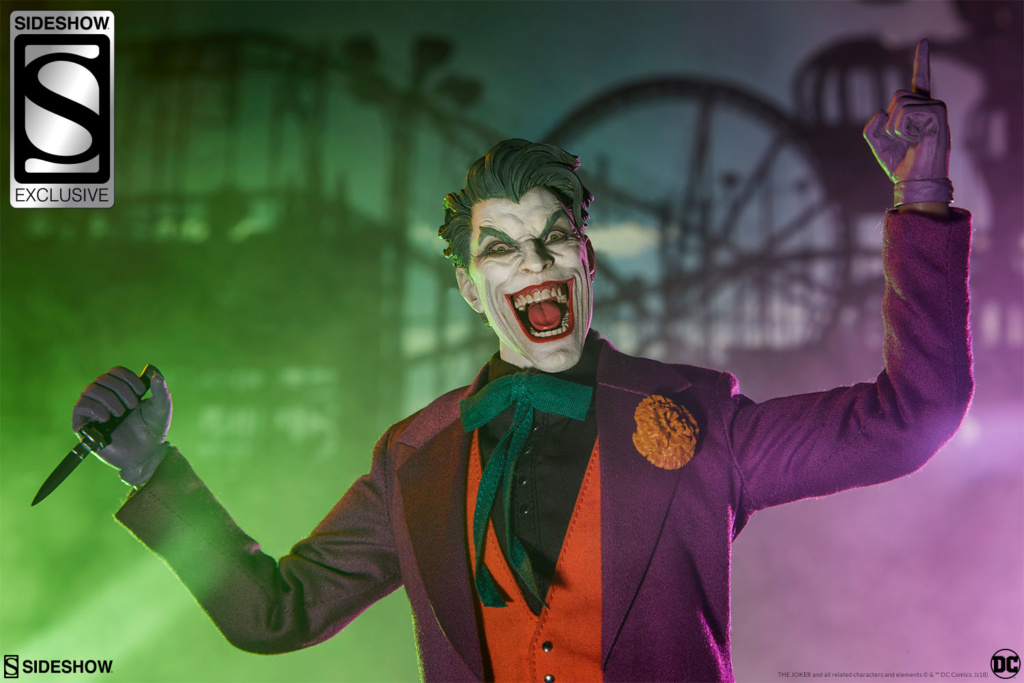 batman - NEW PRODUCT: SIDESHOW COLLECTIBLES: The Joker Sixth Scale Figure (Exclusive Laughing Head Sculpt) 2145