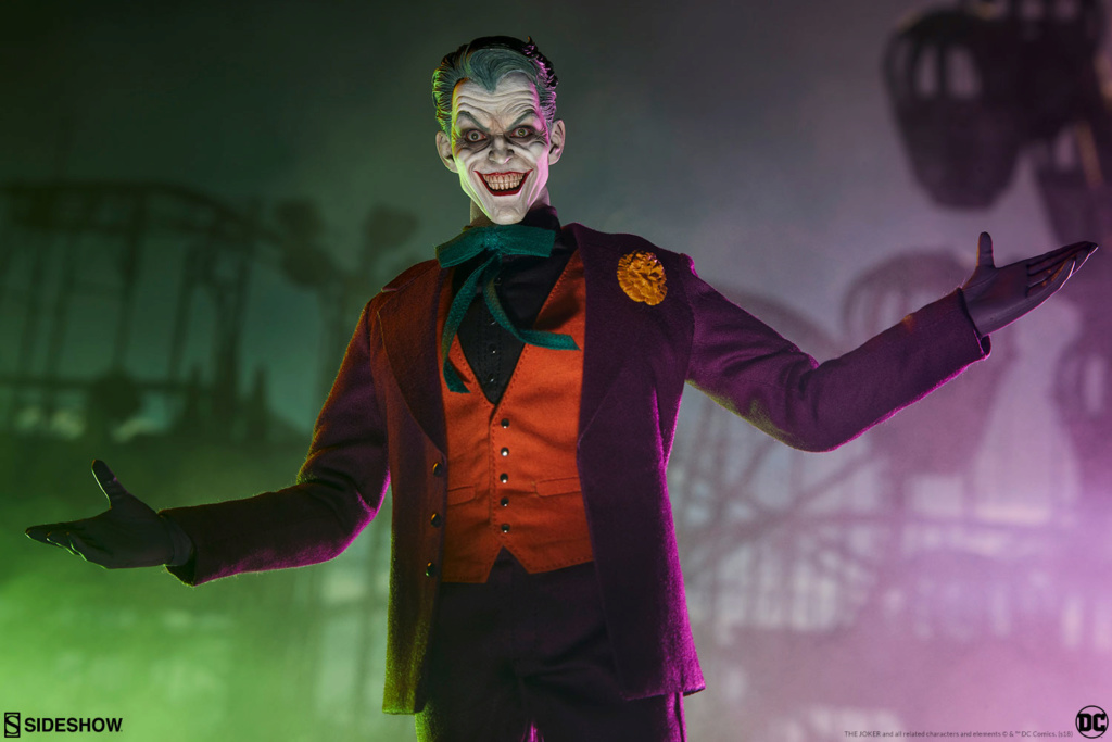batman - NEW PRODUCT: SIDESHOW COLLECTIBLES: The Joker Sixth Scale Figure (Exclusive Laughing Head Sculpt) 2146