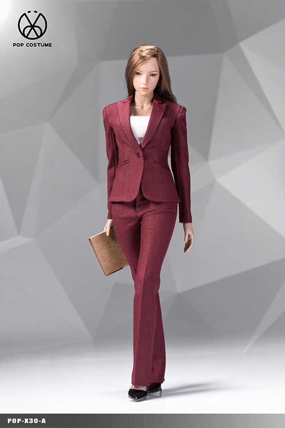 NEW PRODUCT: POPTOYS: 1/6 Office Girl - Women's Suit Set X29 Skirt & X30 Trousers 21472710