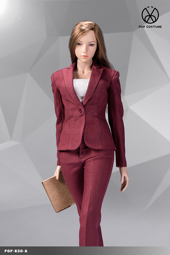 clothes - NEW PRODUCT: POPTOYS: 1/6 Office Girl - Women's Suit Set X29 Skirt & X30 Trousers 21472711