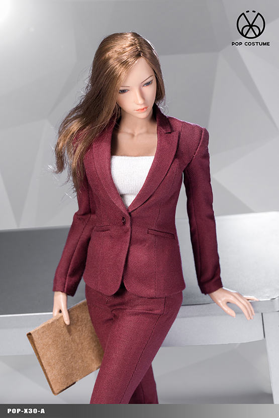NEW PRODUCT: POPTOYS: 1/6 Office Girl - Women's Suit Set X29 Skirt & X30 Trousers 21472810
