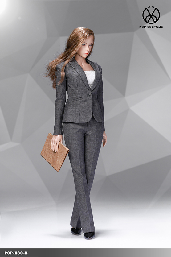 NEW PRODUCT: POPTOYS: 1/6 Office Girl - Women's Suit Set X29 Skirt & X30 Trousers 21472910