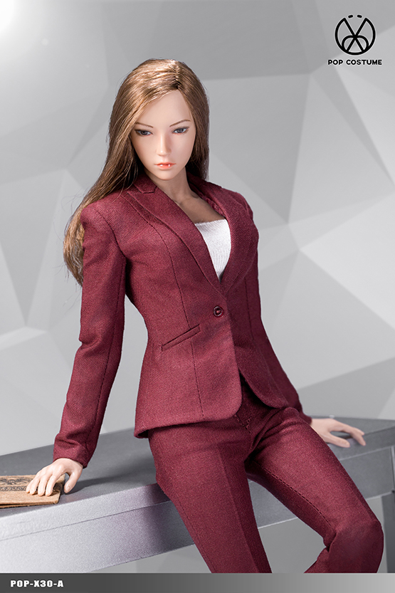NEW PRODUCT: POPTOYS: 1/6 Office Girl - Women's Suit Set X29 Skirt & X30 Trousers 21472911