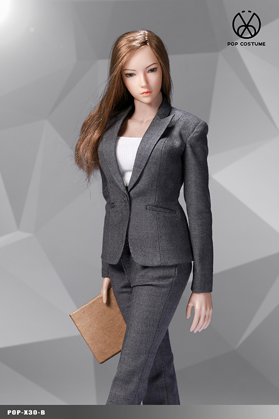 NEW PRODUCT: POPTOYS: 1/6 Office Girl - Women's Suit Set X29 Skirt & X30 Trousers 21473110