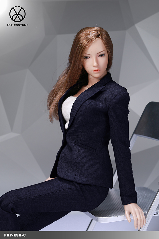 NEW PRODUCT: POPTOYS: 1/6 Office Girl - Women's Suit Set X29 Skirt & X30 Trousers 21473310