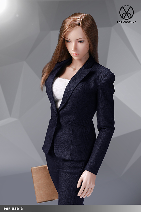 NEW PRODUCT: POPTOYS: 1/6 Office Girl - Women's Suit Set X29 Skirt & X30 Trousers 21473410