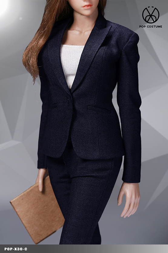 clothes - NEW PRODUCT: POPTOYS: 1/6 Office Girl - Women's Suit Set X29 Skirt & X30 Trousers 21473411
