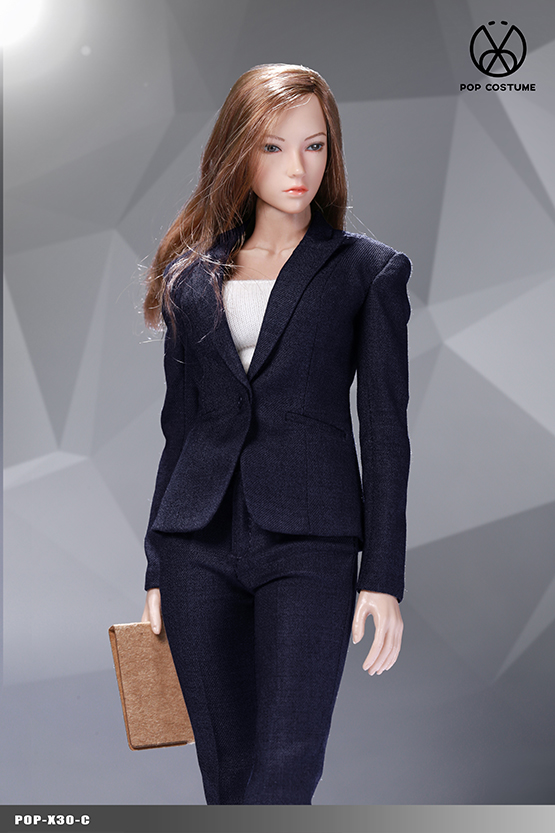 NEW PRODUCT: POPTOYS: 1/6 Office Girl - Women's Suit Set X29 Skirt & X30 Trousers 21473510