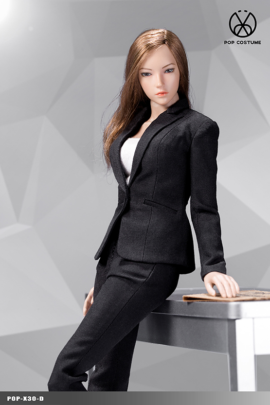 NEW PRODUCT: POPTOYS: 1/6 Office Girl - Women's Suit Set X29 Skirt & X30 Trousers 21473511