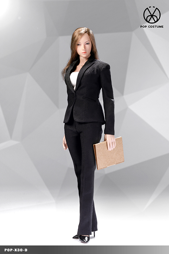 NEW PRODUCT: POPTOYS: 1/6 Office Girl - Women's Suit Set X29 Skirt & X30 Trousers 21473610