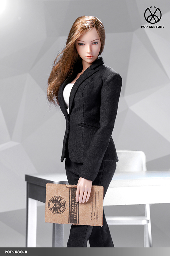 NEW PRODUCT: POPTOYS: 1/6 Office Girl - Women's Suit Set X29 Skirt & X30 Trousers 21473611