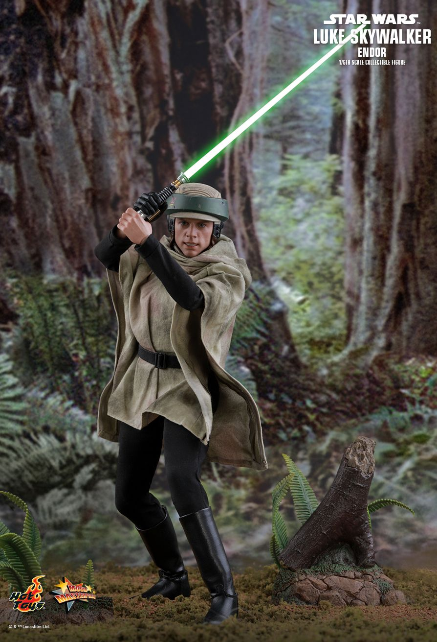 returnofthejedi - NEW PRODUCT: HOT TOYS: STAR WARS: RETURN OF THE JEDI LUKE SKYWALKER (ENDOR) 1/6TH SCALE COLLECTIBLE FIGURE 2150