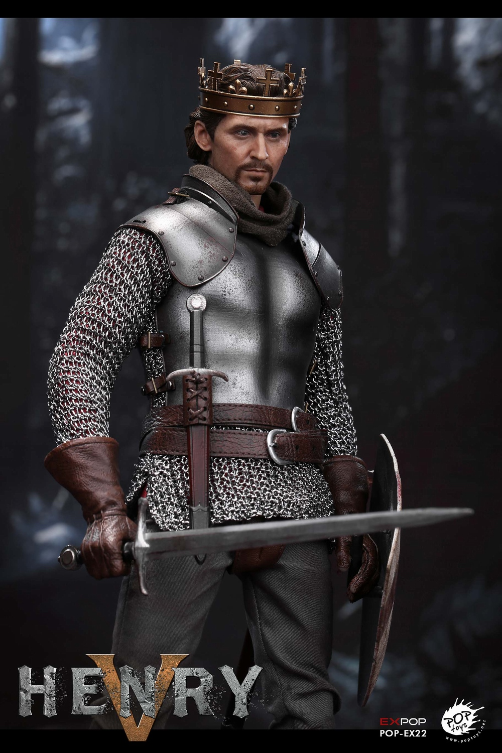 poptoys - NEW PRODUCT: POPTOYS: 1/6 EX22 King Henry V of England, double head sculptures & horse 21575310