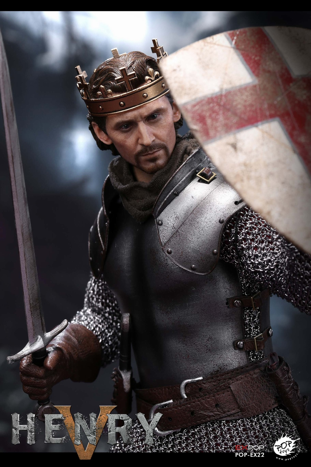poptoys - NEW PRODUCT: POPTOYS: 1/6 EX22 King Henry V of England, double head sculptures & horse 21575710