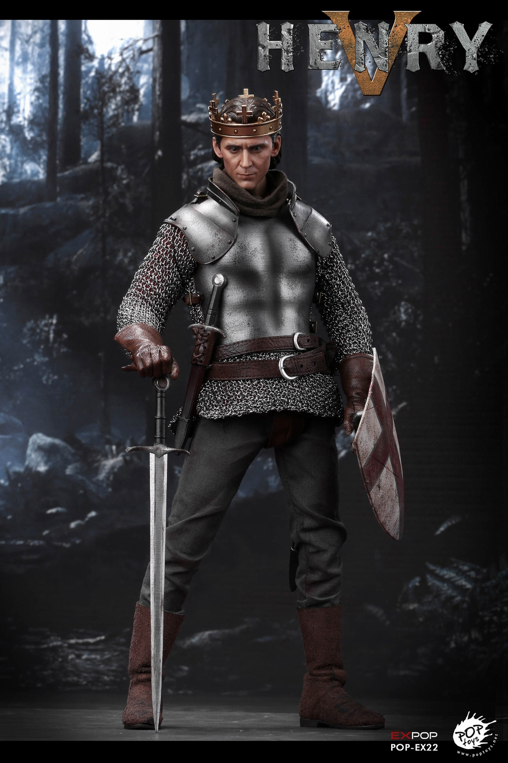 poptoys - NEW PRODUCT: POPTOYS: 1/6 EX22 King Henry V of England, double head sculptures & horse 21580010