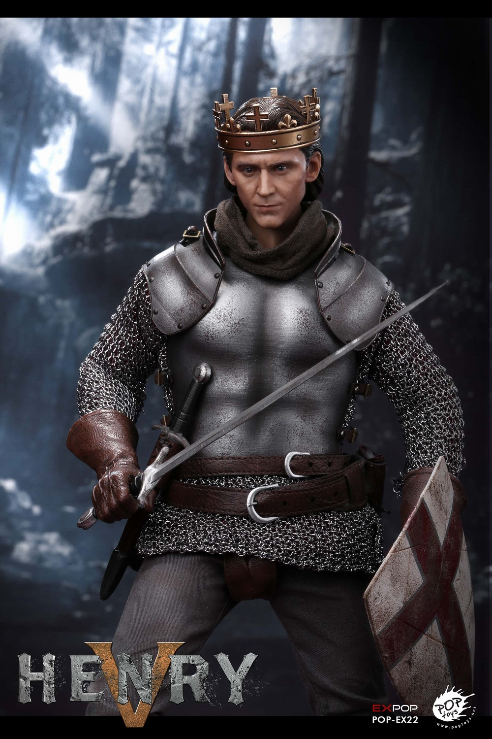 poptoys - NEW PRODUCT: POPTOYS: 1/6 EX22 King Henry V of England, double head sculptures & horse 21580310