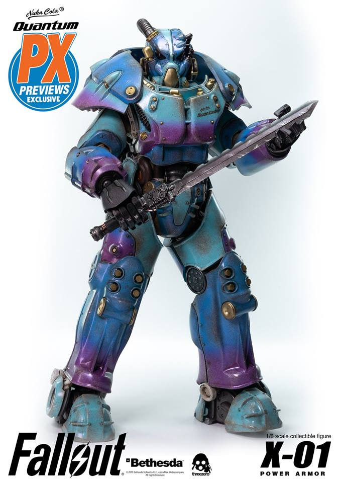 "Fallout - NEW PRODUCT: Three Zero Exclusive 1/6th scale X-01 ""Quantum"" Power Armor 14.5-inch Figure Set 2161"