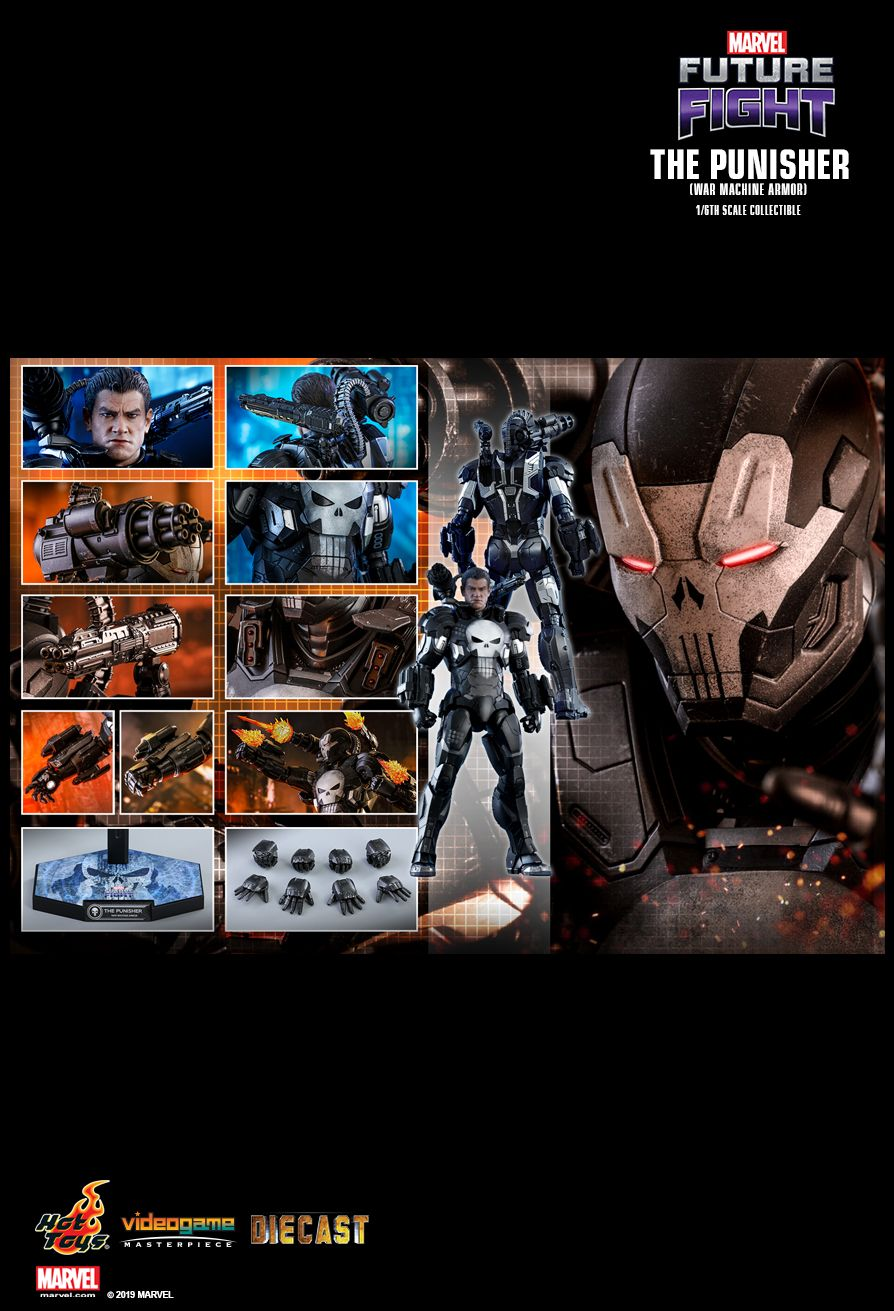 Videogame - NEW PRODUCT: HOT TOYS: MARVEL FUTURE FIGHT THE PUNISHER (WAR MACHINE ARMOR) 1/6TH SCALE COLLECTIBLE FIGURE 2175
