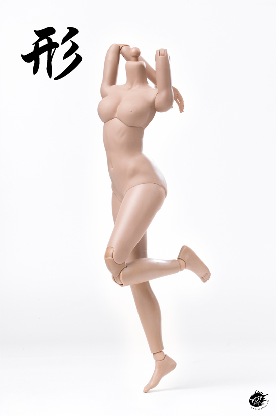 NEW PRODUCT: POPTOYS: 1 / 6 shape series [modified version] high movable female body - 92003 & 4 joint / 92005 & 6 plastic 22010110