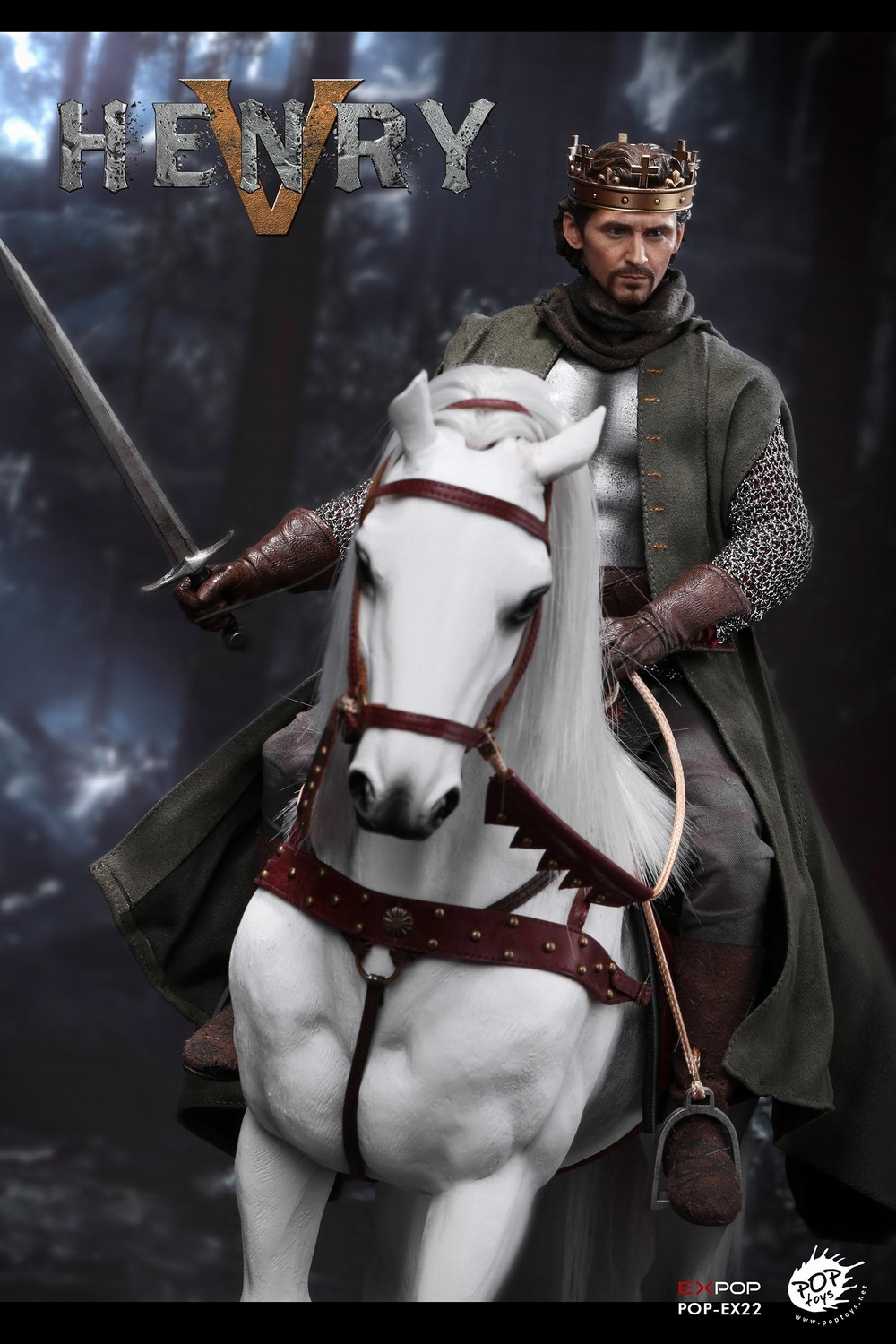 poptoys - NEW PRODUCT: POPTOYS: 1/6 EX22 King Henry V of England, double head sculptures & horse 22045110