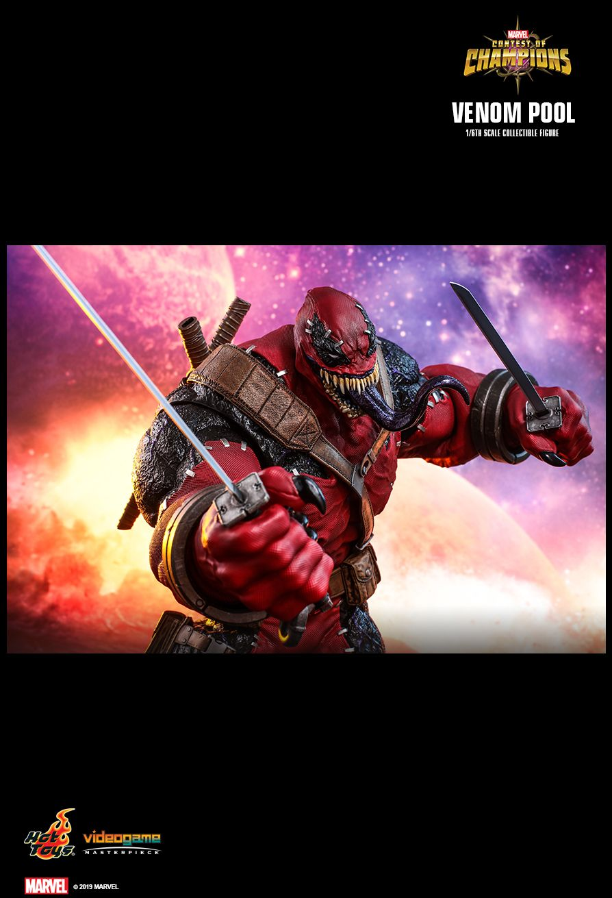 NEW PRODUCT: HOT TOYS: MARVEL CONTEST OF CHAMPIONS VENOMPOOL 1/6TH SCALE COLLECTIBLE FIGURE 22106