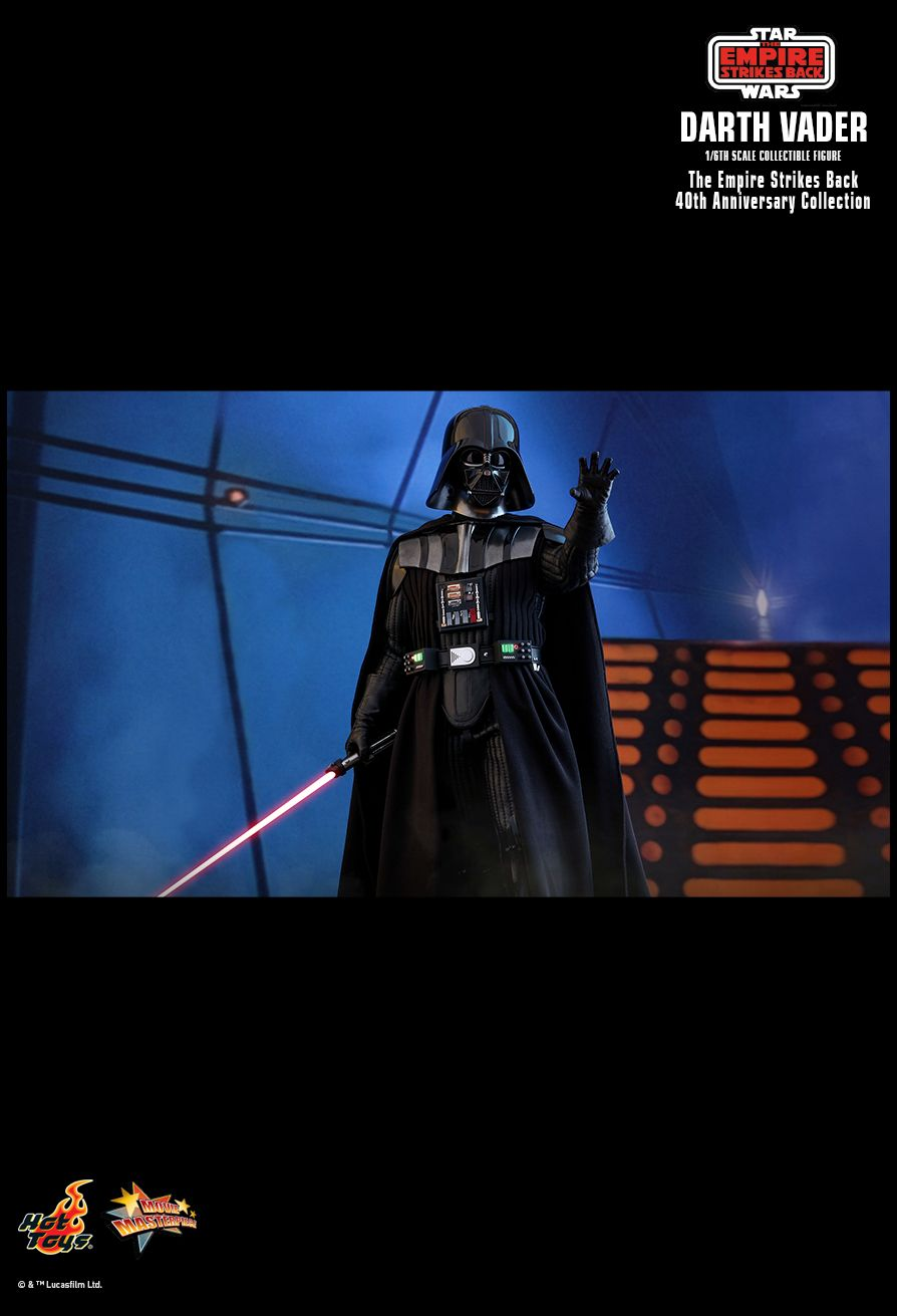 40thAnniversaryCollection - NEW PRODUCT: HOT TOYS: STAR WARS: THE EMPIRE STRIKES BACK™ DARTH VADER™ (40TH ANNIVERSARY COLLECTION) 1/6TH SCALE COLLECTIBLE FIGURE 22131