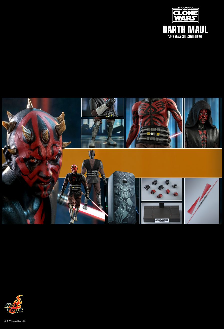 Sci-Fi - NEW PRODUCT: HOT TOYS: STAR WARS: THE CLONE WARS™ DARTH MAUL™ 1/6TH SCALE COLLECTIBLE FIGURE 22144