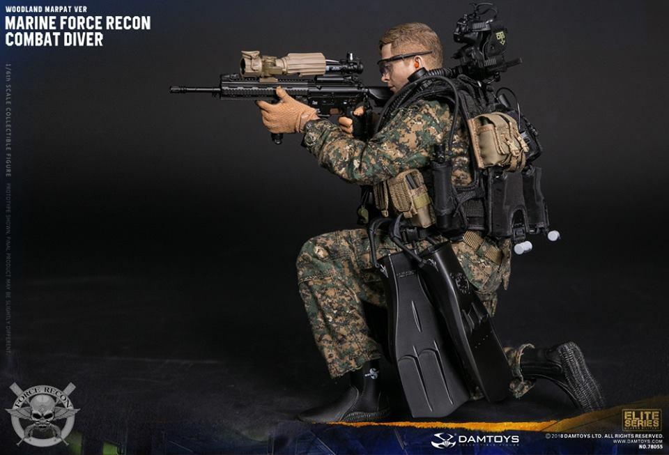 DamToys - NEW PRODUCT: DAM Toys: Marine Force Recon Combat Diver (Desert MARPAT) (GIDAM-78056) & (Woodland MARPAT) (GIDAM-78055) 2218