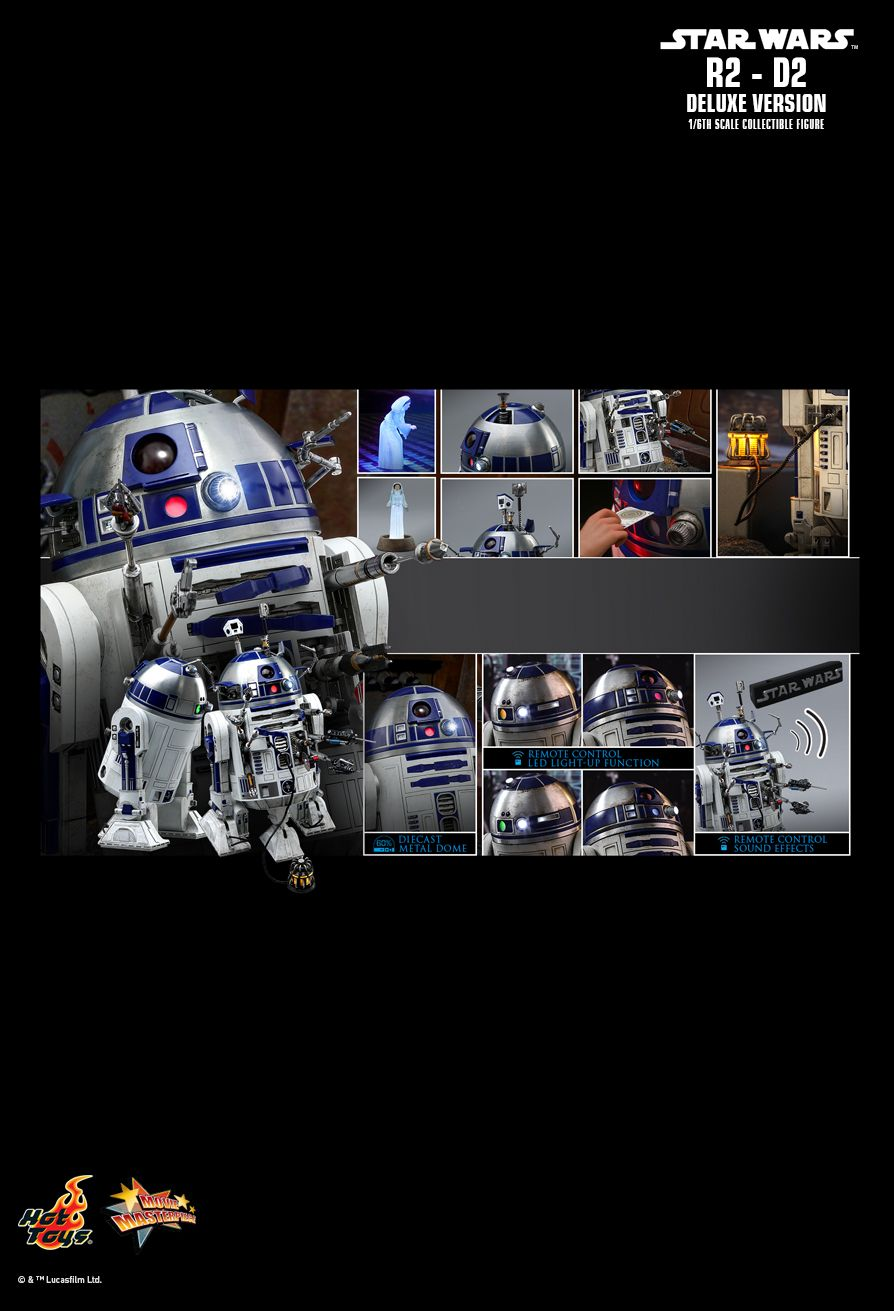NEW PRODUCT: HOT TOYS: STAR WARS R2-D2 DELUXE VERSION 1/6TH SCALE COLLECTIBLE FIGURE 2228