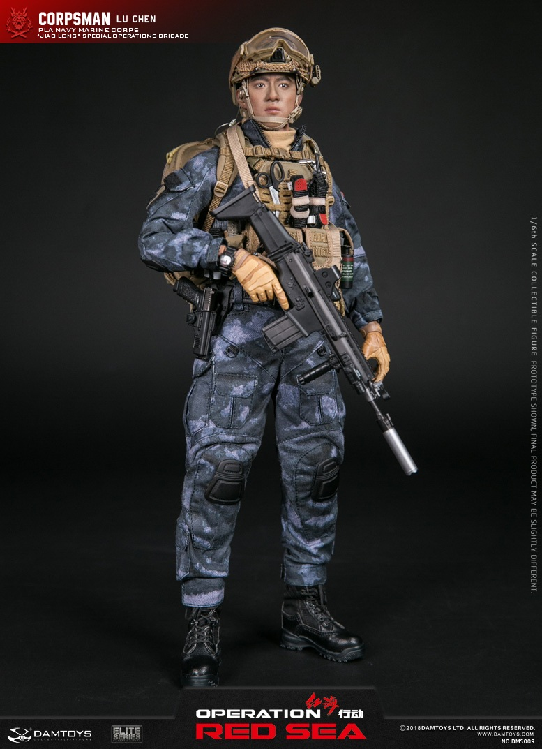 "SpecialBattleBrigade - NEW PRODUCT: DAMTOYS: 1/6 Red Sea Action-PLA Marine Corps ""蛟龙"" Special Battle Brigade Medical Staff Lu Wei DMS009 22301010"