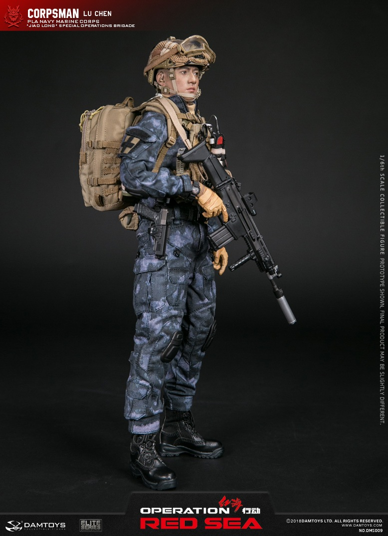 "SpecialBattleBrigade - NEW PRODUCT: DAMTOYS: 1/6 Red Sea Action-PLA Marine Corps ""蛟龙"" Special Battle Brigade Medical Staff Lu Wei DMS009 22301110"