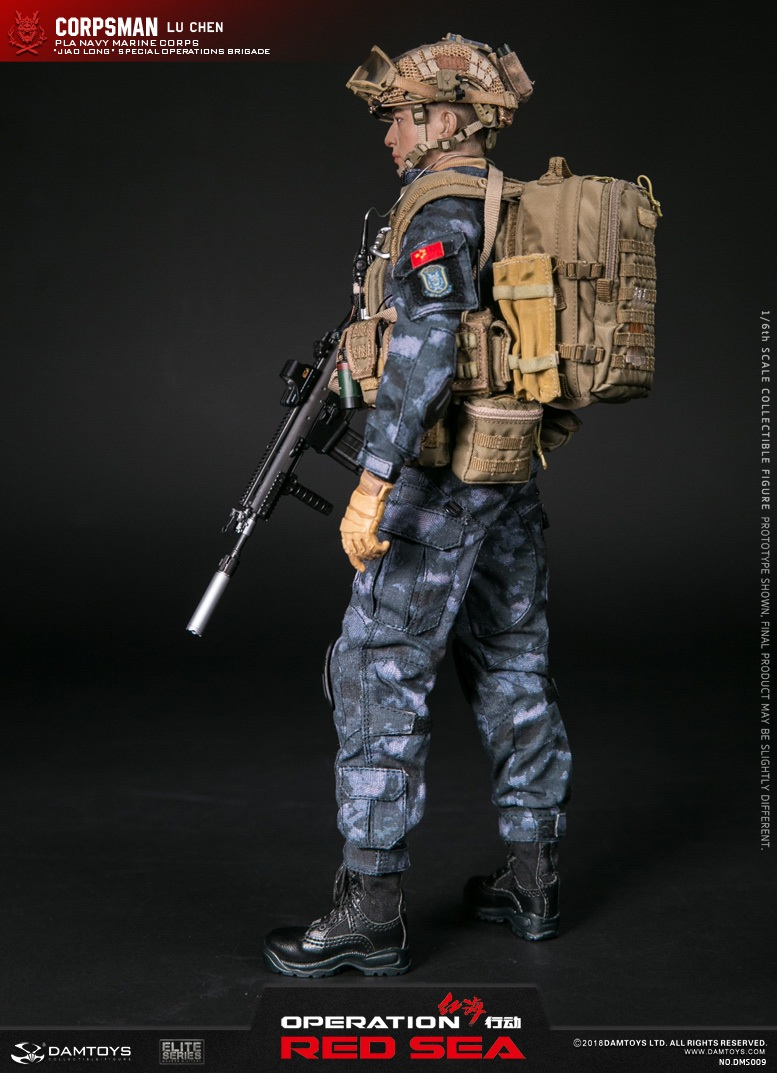 "SpecialBattleBrigade - NEW PRODUCT: DAMTOYS: 1/6 Red Sea Action-PLA Marine Corps ""蛟龙"" Special Battle Brigade Medical Staff Lu Wei DMS009 22301310"