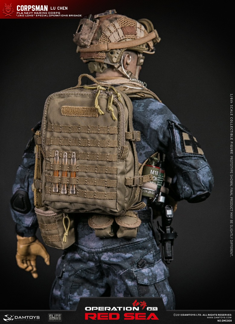 "SpecialBattleBrigade - NEW PRODUCT: DAMTOYS: 1/6 Red Sea Action-PLA Marine Corps ""蛟龙"" Special Battle Brigade Medical Staff Lu Wei DMS009 22301510"
