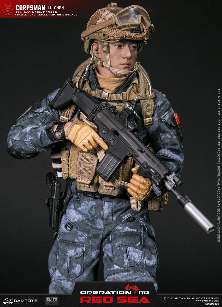 "SpecialBattleBrigade - NEW PRODUCT: DAMTOYS: 1/6 Red Sea Action-PLA Marine Corps ""蛟龙"" Special Battle Brigade Medical Staff Lu Wei DMS009 22301610"