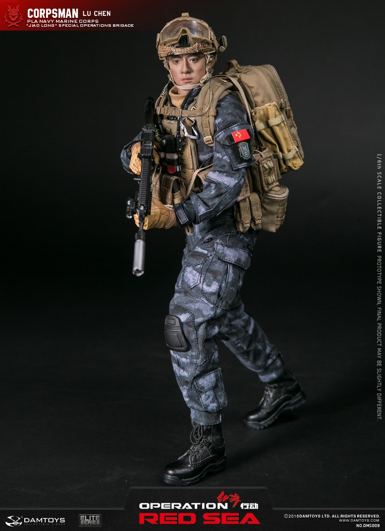 "SpecialBattleBrigade - NEW PRODUCT: DAMTOYS: 1/6 Red Sea Action-PLA Marine Corps ""蛟龙"" Special Battle Brigade Medical Staff Lu Wei DMS009 22301910"