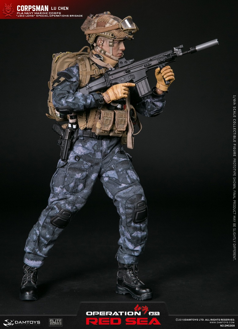 "SpecialBattleBrigade - NEW PRODUCT: DAMTOYS: 1/6 Red Sea Action-PLA Marine Corps ""蛟龙"" Special Battle Brigade Medical Staff Lu Wei DMS009 22302010"