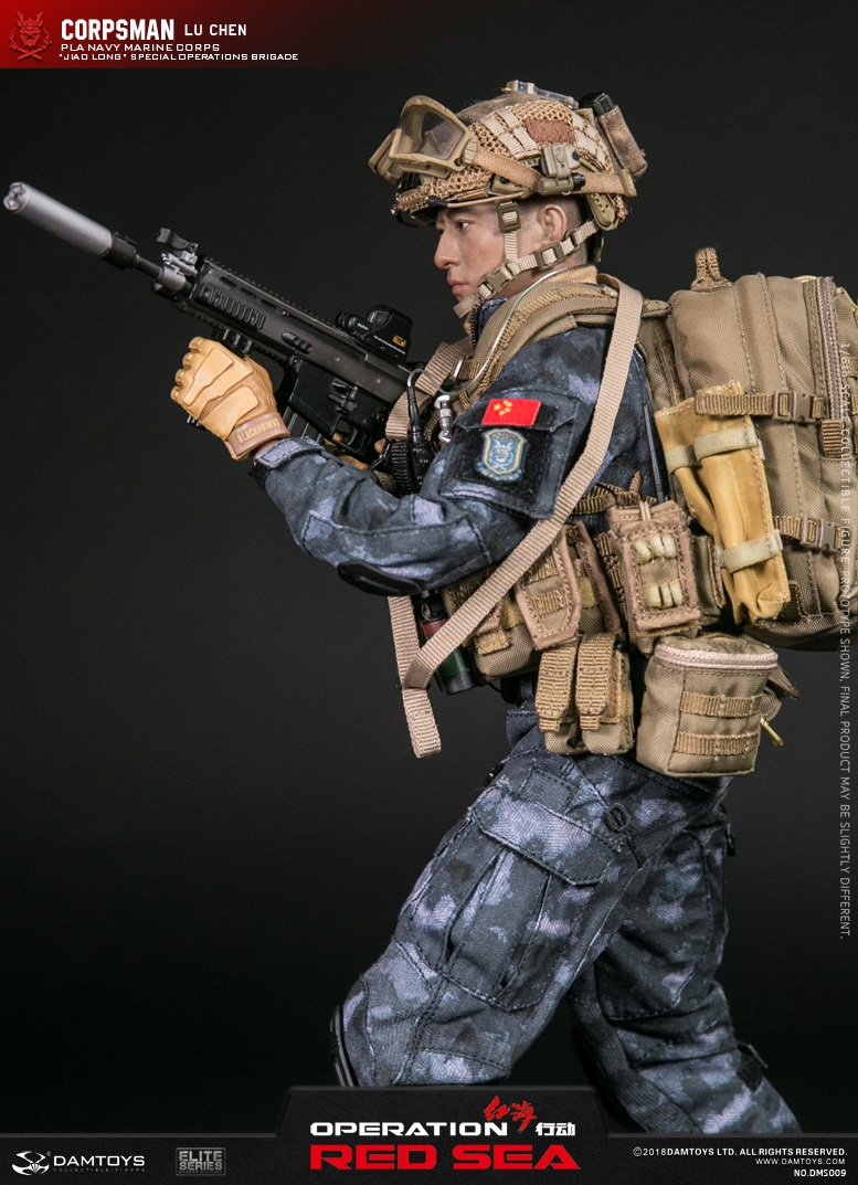 "SpecialBattleBrigade - NEW PRODUCT: DAMTOYS: 1/6 Red Sea Action-PLA Marine Corps ""蛟龙"" Special Battle Brigade Medical Staff Lu Wei DMS009 22302210"