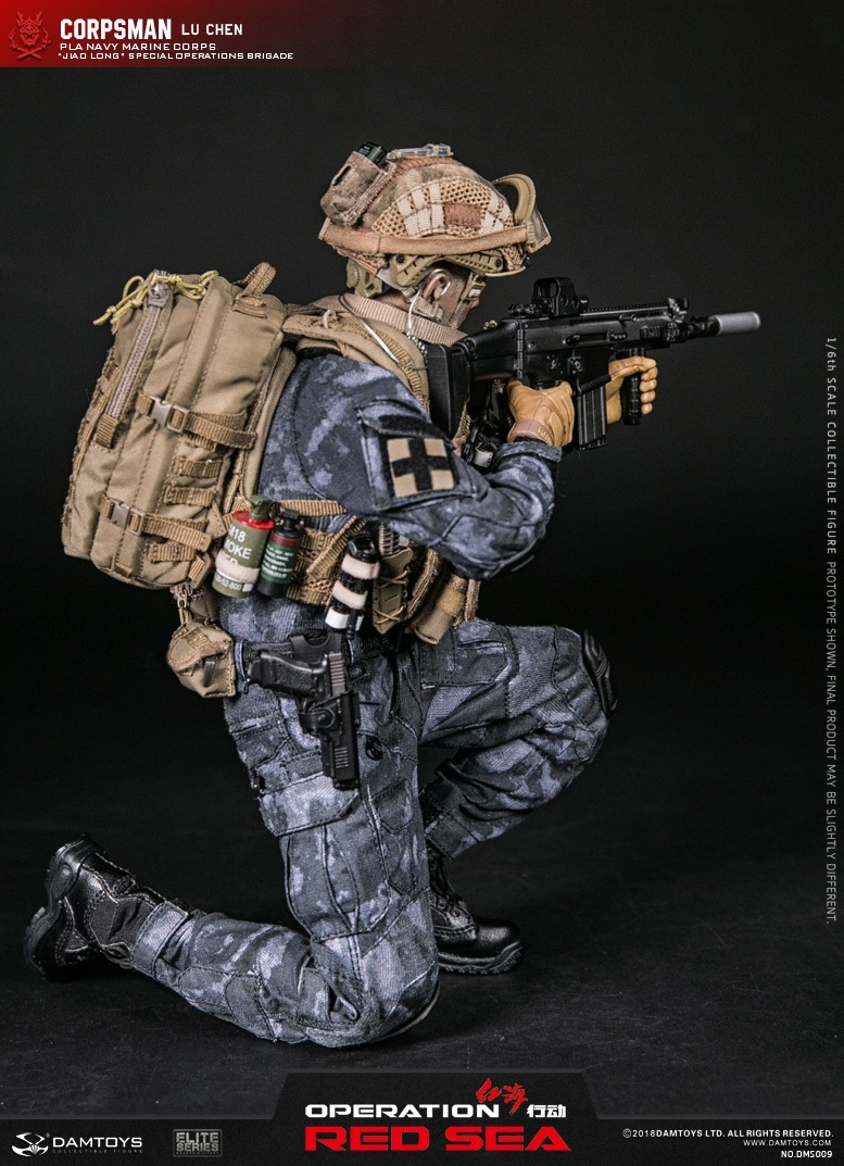 "SpecialBattleBrigade - NEW PRODUCT: DAMTOYS: 1/6 Red Sea Action-PLA Marine Corps ""蛟龙"" Special Battle Brigade Medical Staff Lu Wei DMS009 22302510"