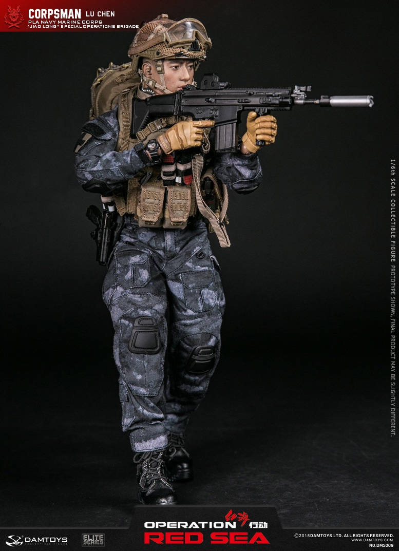 "SpecialBattleBrigade - NEW PRODUCT: DAMTOYS: 1/6 Red Sea Action-PLA Marine Corps ""蛟龙"" Special Battle Brigade Medical Staff Lu Wei DMS009 22302710"