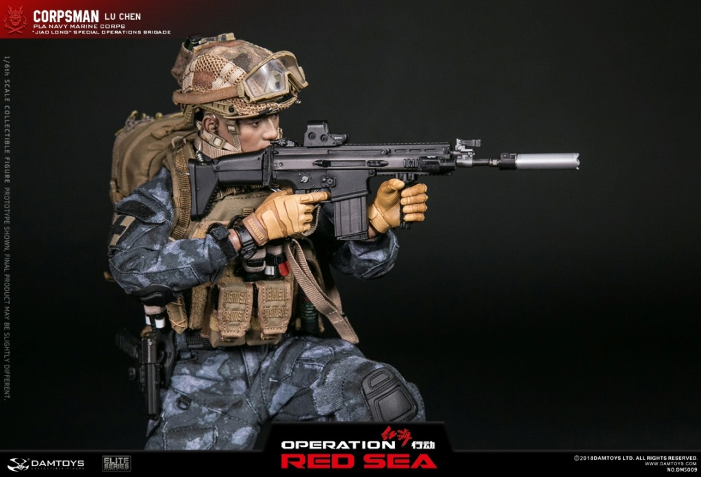 "SpecialBattleBrigade - NEW PRODUCT: DAMTOYS: 1/6 Red Sea Action-PLA Marine Corps ""蛟龙"" Special Battle Brigade Medical Staff Lu Wei DMS009 22302910"