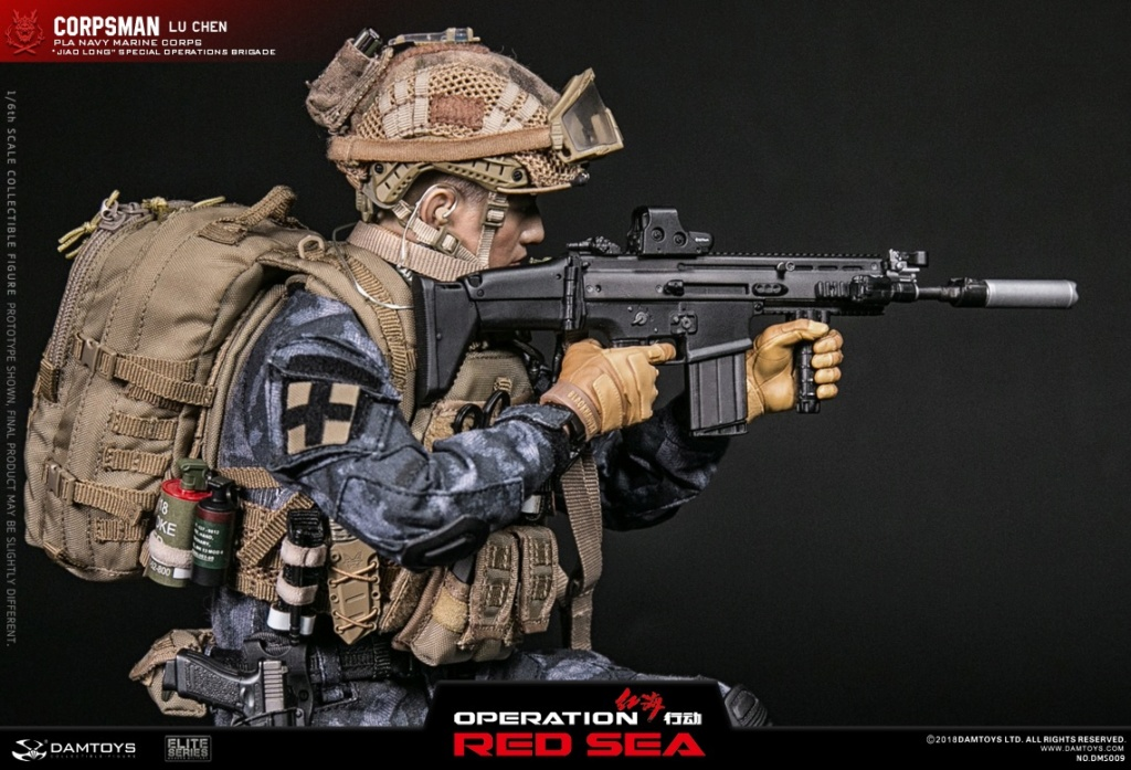 "SpecialBattleBrigade - NEW PRODUCT: DAMTOYS: 1/6 Red Sea Action-PLA Marine Corps ""蛟龙"" Special Battle Brigade Medical Staff Lu Wei DMS009 22303110"