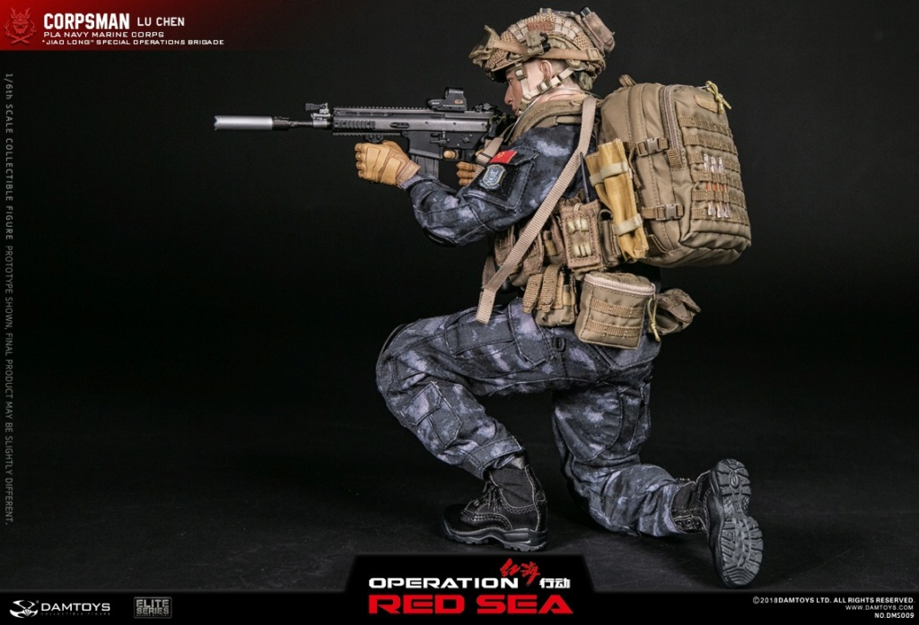 "SpecialBattleBrigade - NEW PRODUCT: DAMTOYS: 1/6 Red Sea Action-PLA Marine Corps ""蛟龙"" Special Battle Brigade Medical Staff Lu Wei DMS009 22303310"