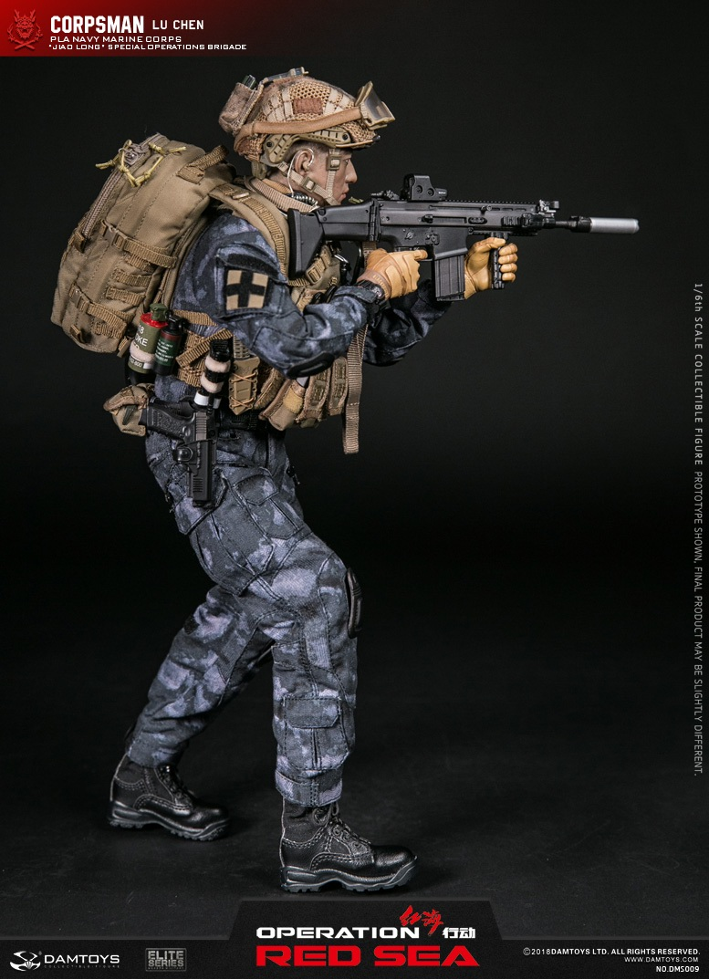"SpecialBattleBrigade - NEW PRODUCT: DAMTOYS: 1/6 Red Sea Action-PLA Marine Corps ""蛟龙"" Special Battle Brigade Medical Staff Lu Wei DMS009 22303410"