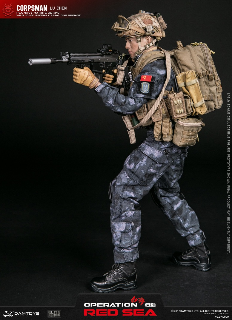 "SpecialBattleBrigade - NEW PRODUCT: DAMTOYS: 1/6 Red Sea Action-PLA Marine Corps ""蛟龙"" Special Battle Brigade Medical Staff Lu Wei DMS009 22303610"